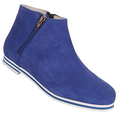 Perforierte Leder Boots Damen Stiefeletten Schuhe vaqxBE