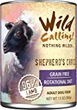 Wild Calling Canned Dog Food - Shepherd's Choice 96% Lamb - 13 oz - 12 ct