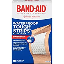 Band-Aid Brand Adhesive Bandages, Extra Large Tough Strips, Waterproof, 10 Count (Pack of 2) by Band-Aid