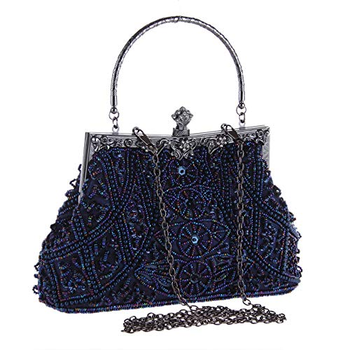 Main Perles Sac Grey Femmes À Bag Bleu Bridal Ofgcfbvxd Clutch Vintage Purse Couleur Dames Mariage Strass Evening qgxtx1vw8