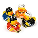 Fun Express Hockey Rubber Duck Party Favor Set (2-Pack of 12)