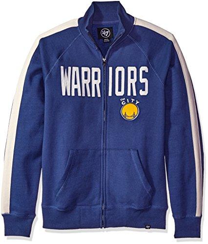 '47 NBA Men's Cross-Check Sweat shirt, Small, Bleacher Blue by '47