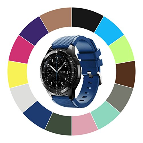 Midenso Bands for SAMSUNG Gear S3 Frontier/Classic/Moto 360 2nd Gen 46mm Watch Silicone Bracelet, Sports Silicone Band Strap Replacement Wristband For Samsung Gear S3 Frontier/S3 Classic (Purple)