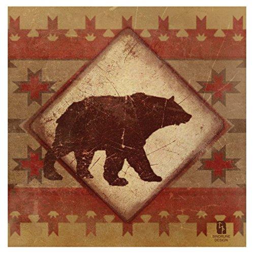 Thirstystone 4-Piece Lodge Bear Coaster Set
