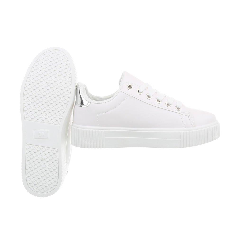 Ital-Design Sneakers Damenschuhe Freizeitschuhe Sneakers Ital-Design Niedrig Weiß Xf823-40 9c2f4a