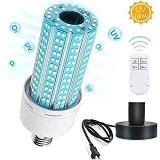 LED Lamp with Base with Remote Control,100W E26, E27 Led Light Bulb Suitable for Home, Restaurant,Office, Warehouse, Supermarket Light Bulb