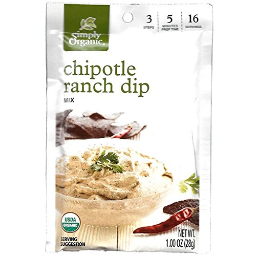 Simply Organic Chipotle Ranch Dip (Pack of 3) Simply Organic Ranch