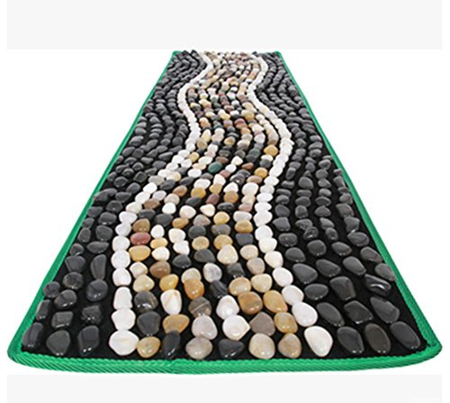WE&ZHE Natural Fossil Pebbles Foot Massage Foot Pad Foot Massage Bed Blanket Matstone Stone Pressure Plate (40 150 Cm) by WE&ZHE