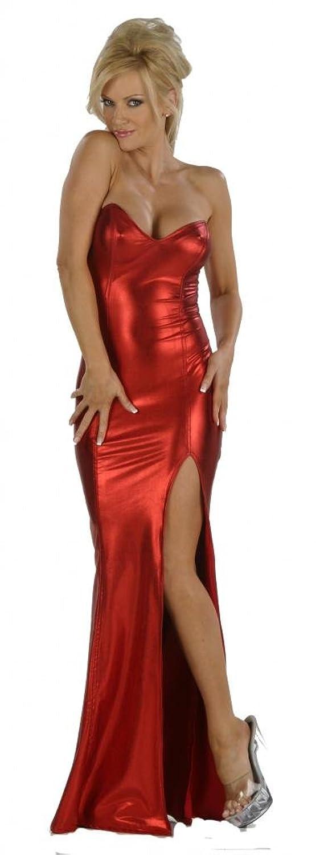 Amazon Nom De Plume Inc Womens Sexy Stretch Red Lame Jessica