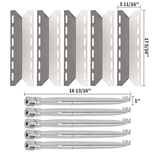 - SHINESTAR Replacement Grill Parts for Charmglow 720-0234, 720-0289, Kirkland 720-0025, Nexgrill, 17 5/16 inch Stainless Steel Heat Shield Plate Tent Flame Tamer & 16 13/16