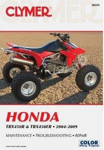 Honda Trx450r Stock - CLYMER SERVICE MANUAL HONDA TRX450R, Manufacturer: CLYMER, Manufacturer Part Number: M201-AD, Stock Photo - Actual parts may vary.