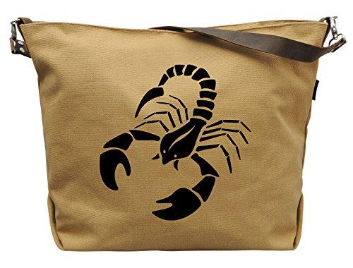 vietsbay Mujer Escorpio Zodiaco vinilo lona de Impresión correa de piel bolso se _ _ _ _ _ _ _ _ _ _ 29,  Marrón arena