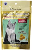 NaturVet 50 Count Aches and Discomfort Plus Glucosamine 2-in-1 Soft Chew for Cats 2.6 oz
