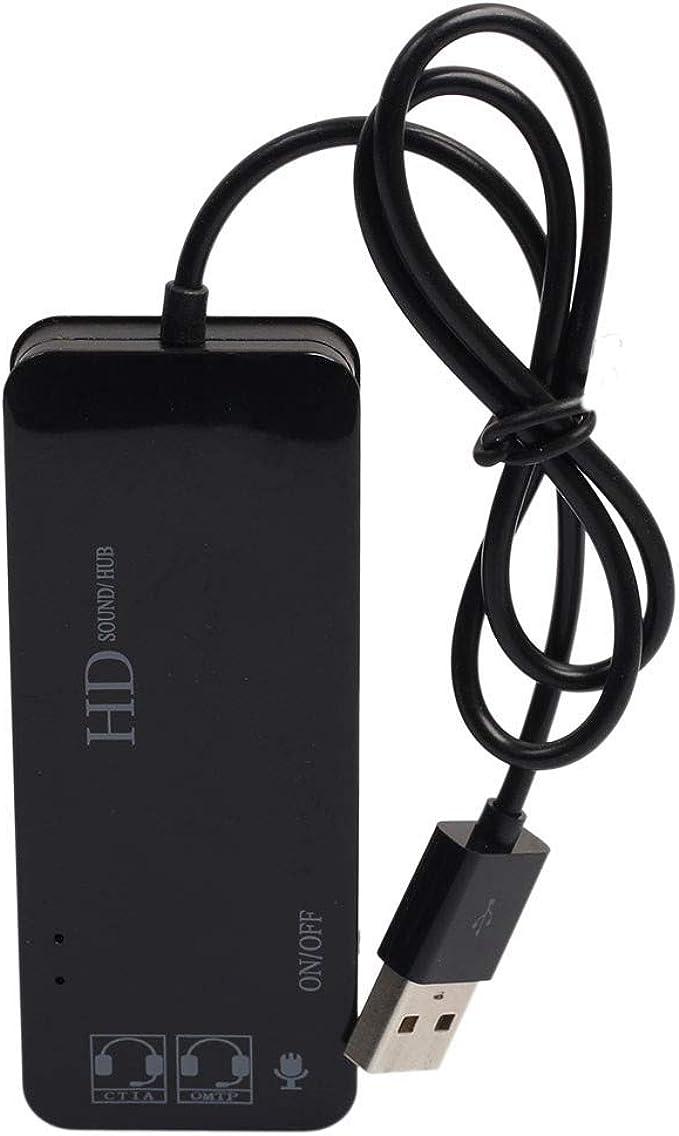 Mount In Desk 3-Port USB 2.0 HUB Adapter External Stereo Sound Adapter Hi-Speed