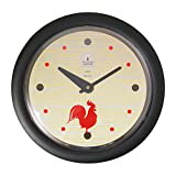 Morning Rooster -Sleek Black Frame-14'' Fashion Wall Clock