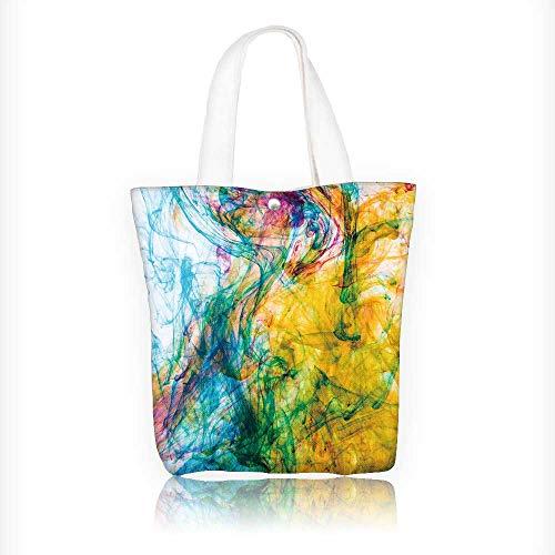 (Women's Canvas Tote Handbags color ink in water Casual Top Handle Bag Crossbody Shoulder Bag Purse W11xH11xD3 INCH)