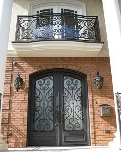 72 X 96 Stunning Wrought Iron Entry Doors With Glass Balcony