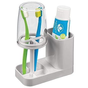 Amazon.com: mDesign - Soporte de plástico moderno para ...