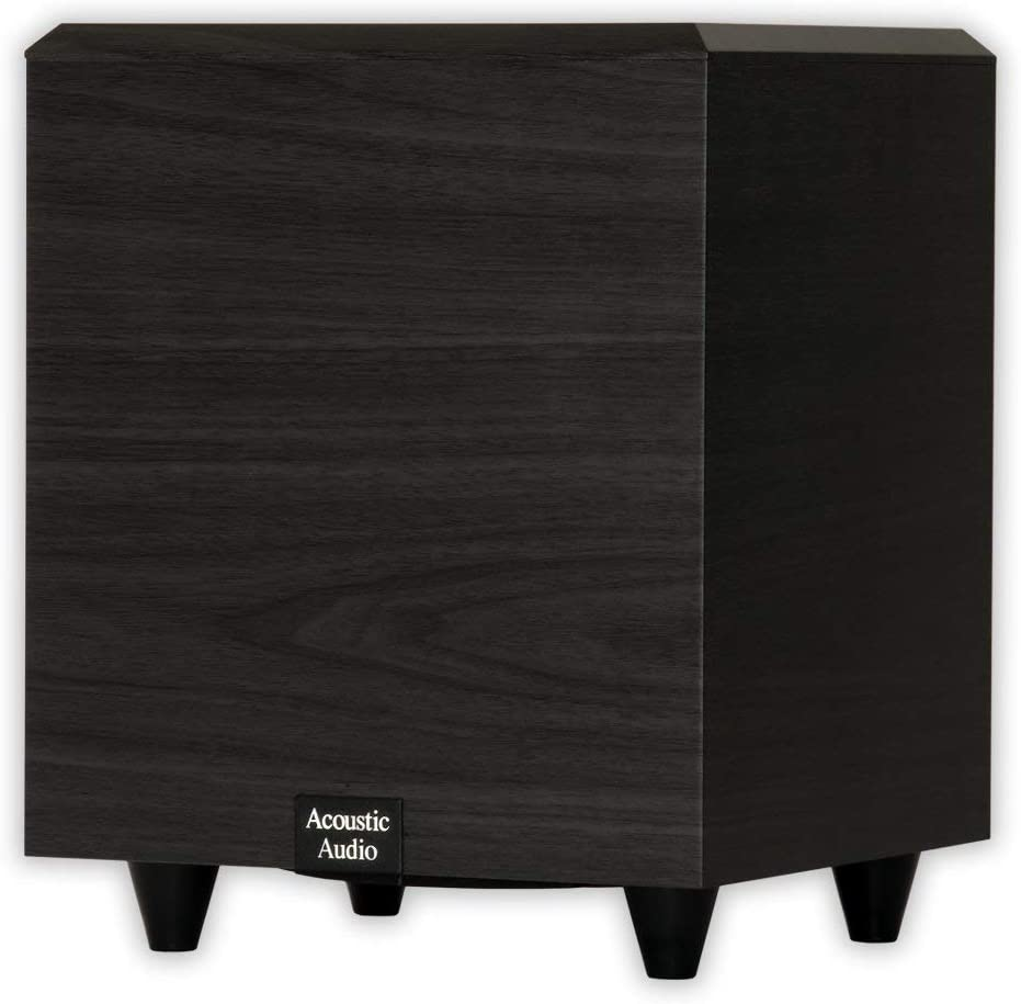 Acoustic Audio PSW-6 Down Firing Powered Subwoofer (Black) (Renewed)