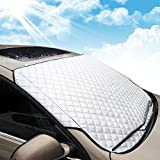 MATCC Car Windshield Cover Sun Shade Summer Sun Protector Ice Removal Windshield Protector Sun Shades with Cotton Thicker Snow Protection Cover Fits Most of Car