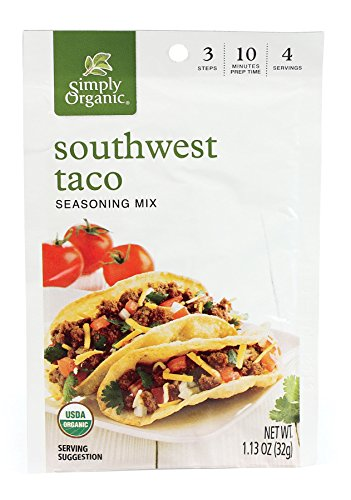 - Simply Organic Southwest Taco, Seasoning Mix, Certified Organic, 1.13-Ounce Packets (Pack of 12)