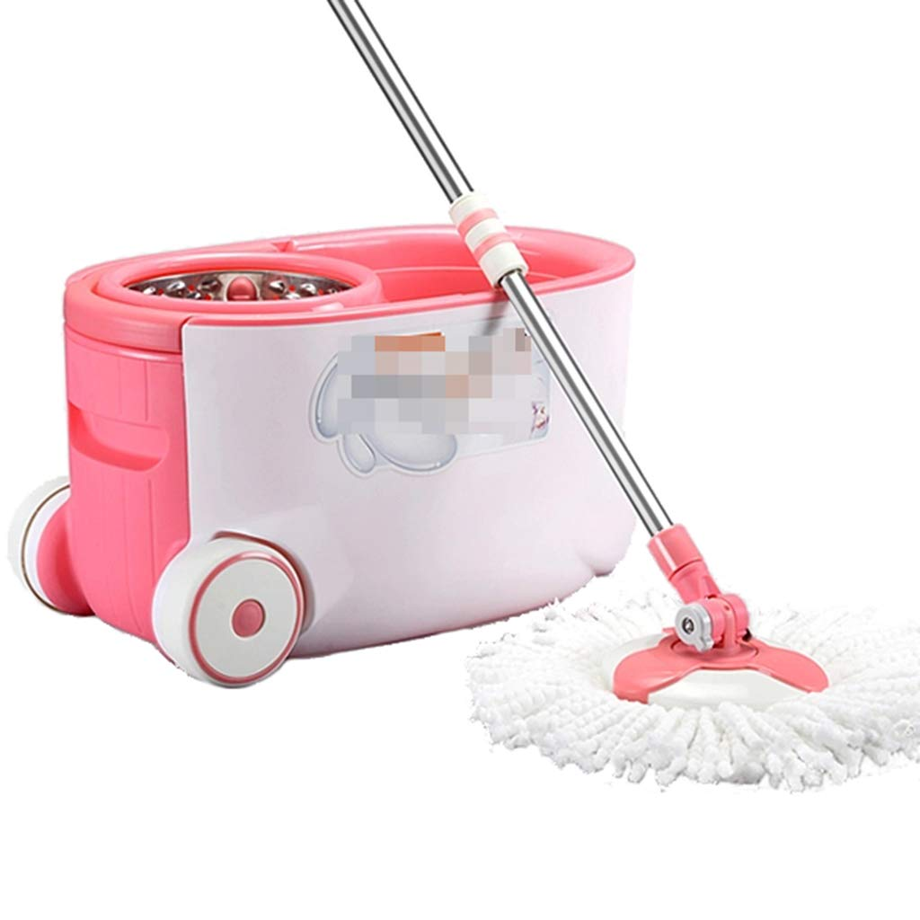 Hand Pressure Rotating MOP Barrel MOP Head MOP Double Drive Dry and Wet Dual-use mop Suitable for Home Classroom Office, etc,A