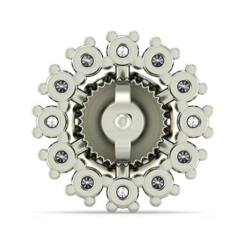 18K Or Blanc 0,6carat au total Round-cut-diamond (IJ | SI) et Off White Pearl Boucles d'oreille à tige