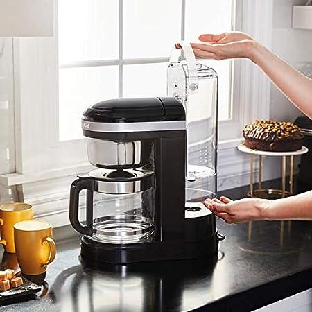 KitchenAid - Cafetera de goteo (12 tazas), color negro: Amazon.es ...