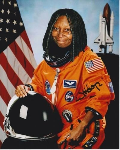 WHOOPI GOLDBERG signed autographed ASTRONAUT photo