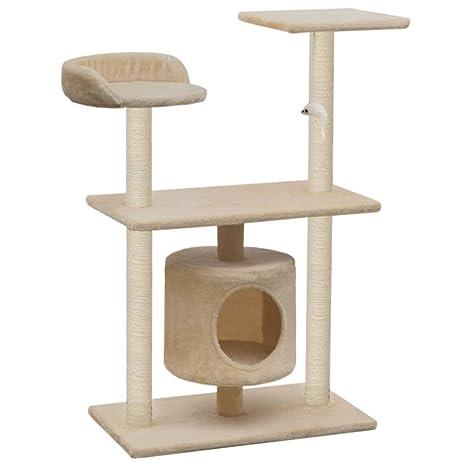 vidaXL Rascador para Gatos con Poste Rascador Sisal 95cm Beige Juegos Mascotas
