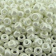 Miyuki Round Seed Beads Size 6/0 20g Ivory Pearl Ceylon
