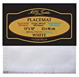 MCG Textiles Soft and EZ Placemat, 13 by 18- Inch, White