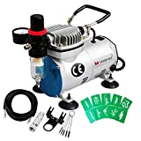 Best None Airbrush Makeup Kits - Voilamart 1/6HP High Performance Professional Quiet Air Compressor Review