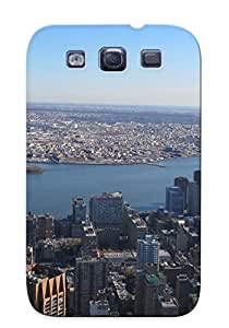 Exultantor New Arrival Galaxy S3 Case Landscapes Cityscapes Usa New York City Manhaan Empire State Building Skyscapes Case Cover/ Perfect Design