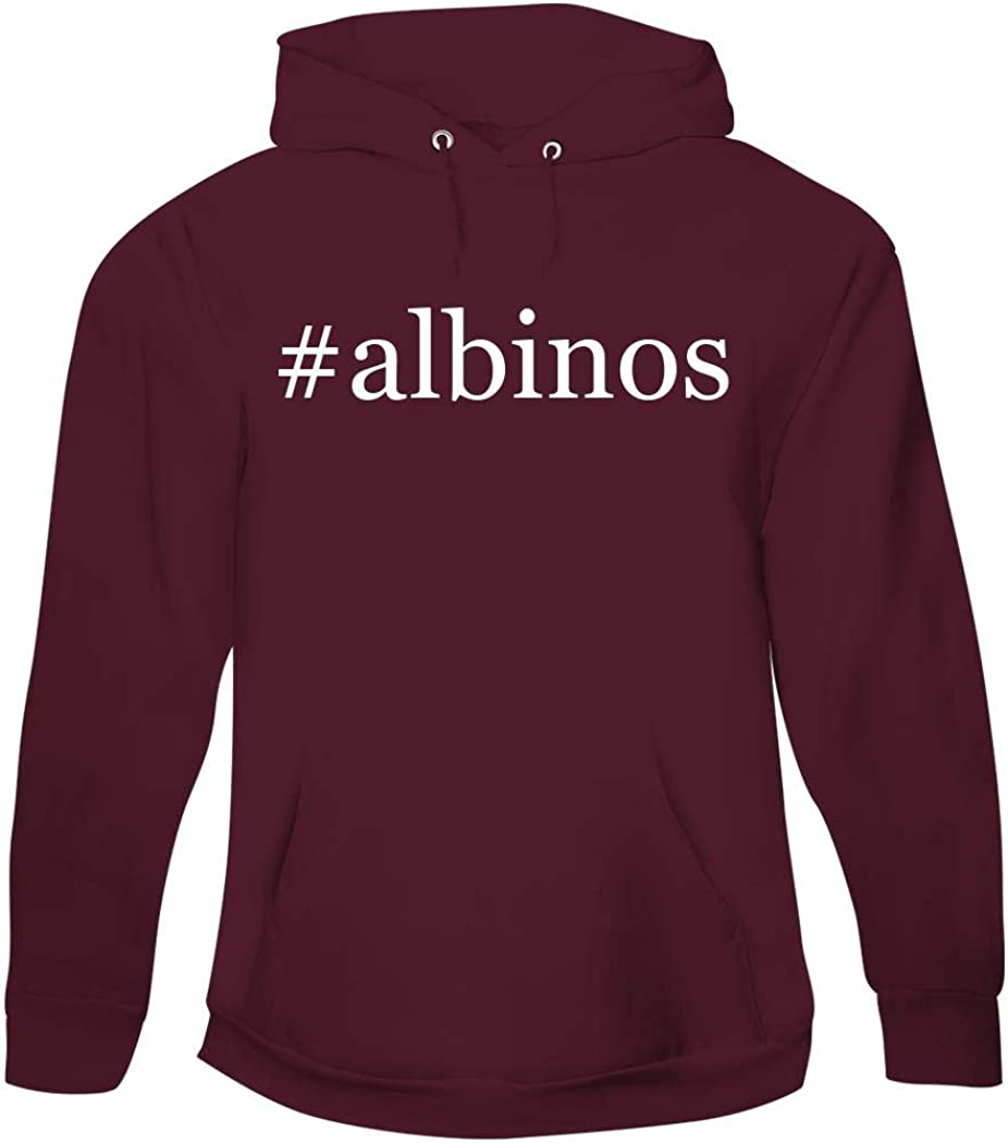 #Albinos - Men'S Hashtag Pullover Hoodie Sweatshirt, Maroon, Small