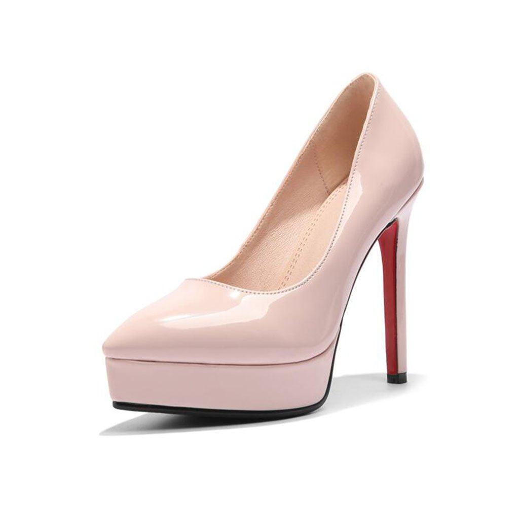 XUERUI Frau High Heels Stilettos Sexy Schön Passen 12cm Absatz (Farbe : Pink, größe : EU37/UK4.5-5/CN37)  EU37/UK4.5-5/CN37|Pink