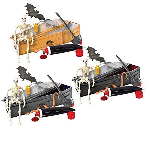 Set of all 3 ULTIMATE Coffin Casket Playsets for WWE Wrestling Action Figures