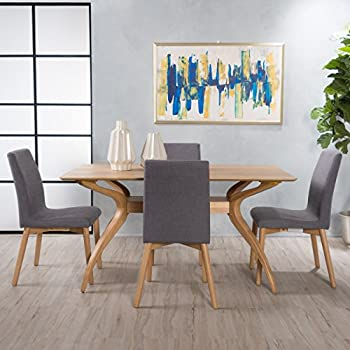 Amazon.com: Katherine Mid Century acabado de madera 5 piezas ...
