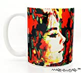 Natalie Wood mugs 11 oz ceramic cups by Mark Lewis Art - n3 - Living descendant of Cy Young the baseball legend