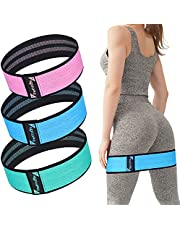 TheFitLife Resistance Bands for Legs and Butt - Fabric Mini Exercise Bands Circle for Booty, Hip, Glute Workout, Anti-Break, Non-Rolling and Non-Slip Wide Fitness Loop Training Bands