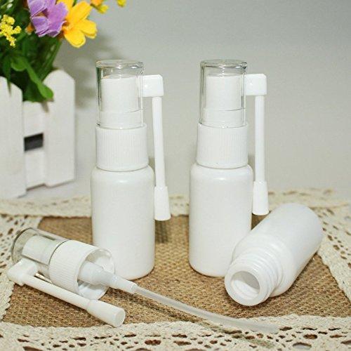 (Airgoesin 10pcs Mist Throat Nose Nasal Spray Tonsil Stone Oral Care Pump Bottle Empty 20ml)