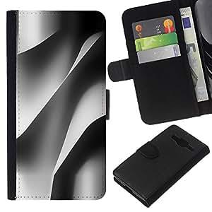WINCASE Cuadro Funda Voltear Cuero Ranura Tarjetas TPU Carcasas Protectora Cover Case Para Samsung Galaxy Core Prime - edificio de ingeniería de papel arquitectura