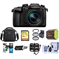 Panasonic Lumix DC-GH5 Mirrorless Camera Black with Leica DG Vario 12-60mm F/2.8-4.0 O.I.S Lens - Bundle With 32GB SDHC U3 Card, Spare Battery, Camera Case, 62mm Filter Kit, Software Package And More