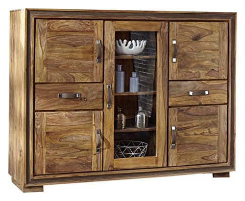 SHAN LAGER 6306-K Highboard Holz, shina, 165 x 45 x 126 cm