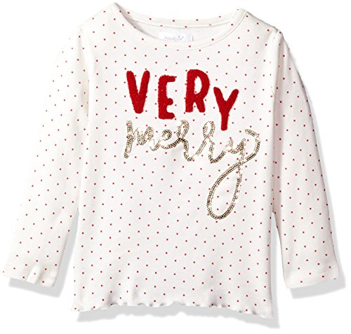 Mud Pie Baby Toddler Girls' Holiday Christmas Long Sleeve Tunic, Gold Sequin, LG/ 4T-5T