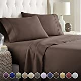 Hotel Luxury Bed Sheets Set Today! On Amazon Softest Bedding 1800 Series Platinum Collection-100%!Deep Pocket,Wrinkle & Fade Resistant (Twin, Brown)