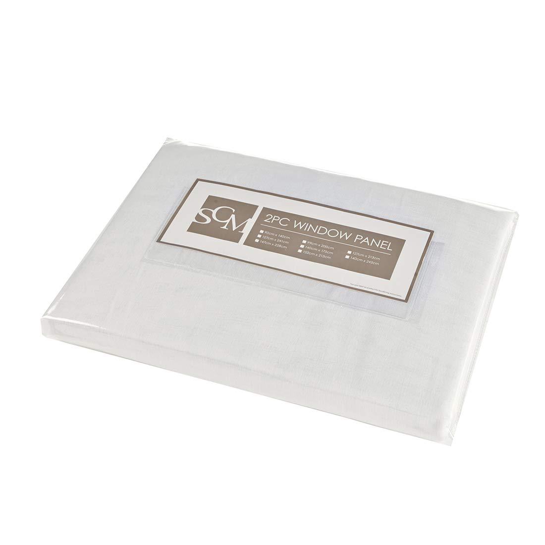 bianco sporco SCM Tenda Sciarpe in voile con asta Doris 2x H//B: 175//140 cm Tessuto