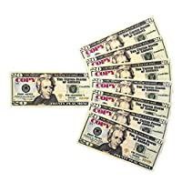 GoodOffer 20 Dollars Play Money - Realistic Prop Money 100 pcs. - Total of $2,000 Copy Money with Two Sides for Pranks, Games, Monopoly - Educational Play Money for Kids - Prop Twenty Dollar Bills