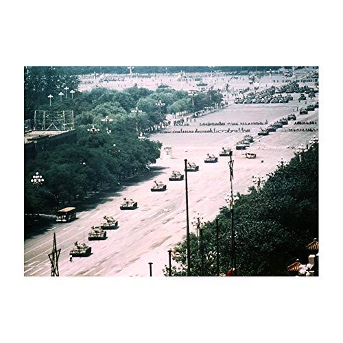 Tank Man On Tiananmen Square Beijing 1989 Wall Decor Art Print 24x36 Inches Photo Paper Material Custom Poster