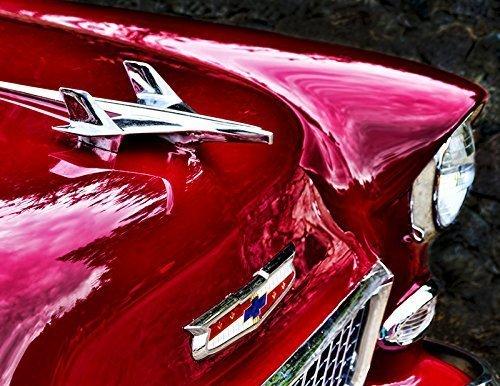 1955 Chevy Bel Air Hood Ornament Vintage Classic Car   Antique Automobile Fine Art Photography 8 5 X 11